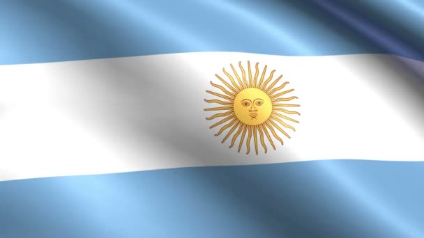 Creased argentina cotton flag full hd