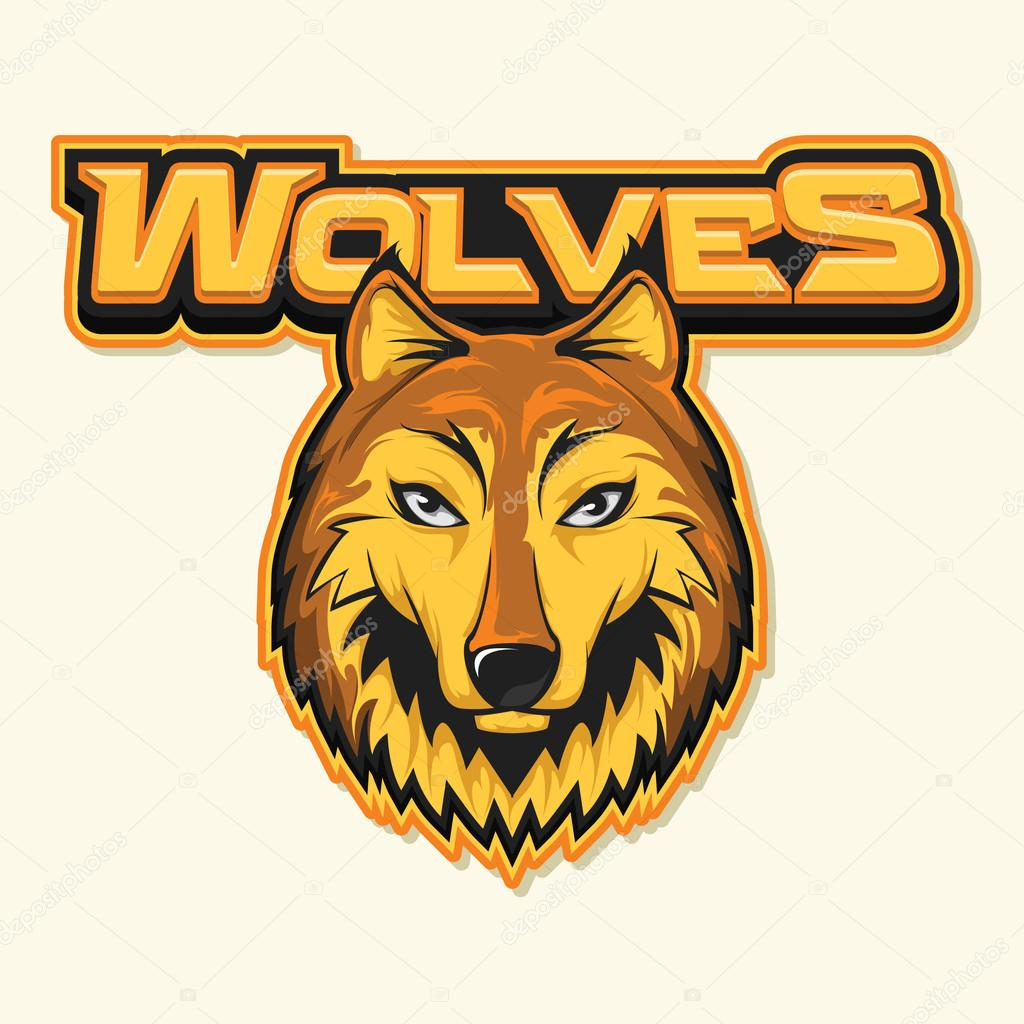 Wolf Logo Illustration Design Stockvektor Indomercy2012 119918664