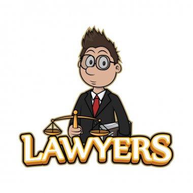 lawyers banner illustration design colorful