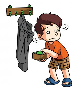 Boy Stealing money