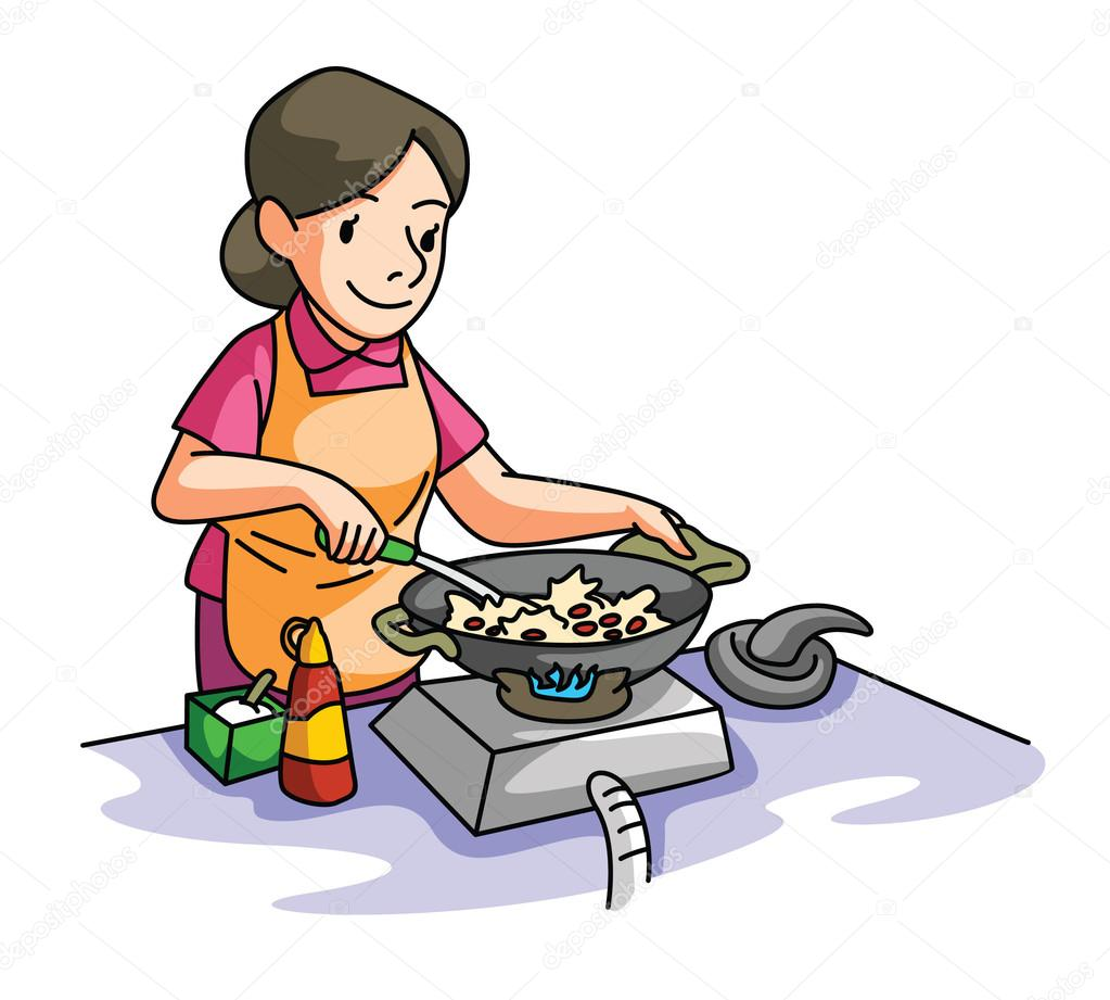 Woman cooking — Stock Vector © indomercy2012 #59341313