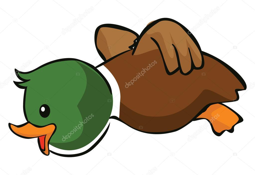 Cute cartoon duck — Stock Vector © indomercy2012 #70624513
