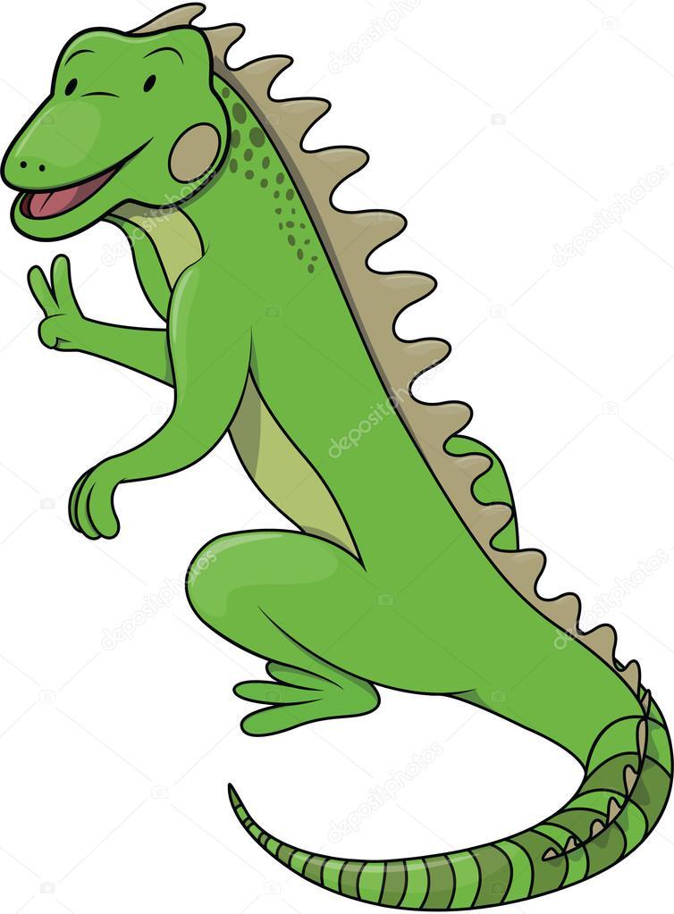 Ilustración De Dibujos Animados De Iguanas Archivo Imágenes