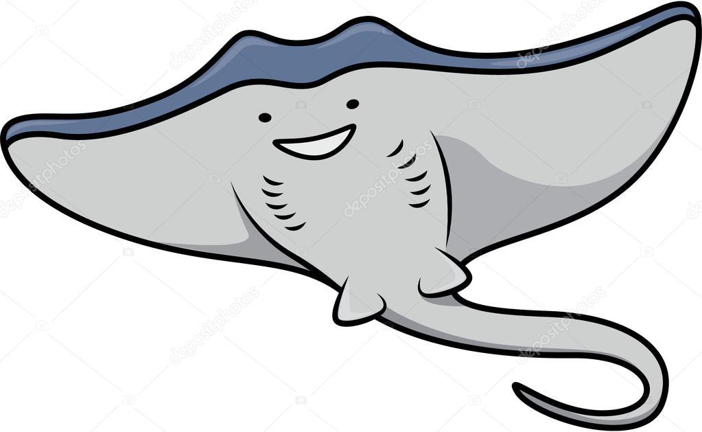 Stingray fish cartoon — Stock Vector © indomercy2012 #86908914