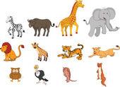 Fotografia Safari animale selvaggio divertente del fumetto illustrazione