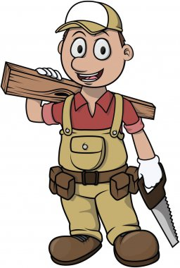 Carpenter boy cartoon