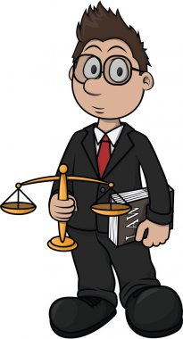 Lawyer cartoon illustration