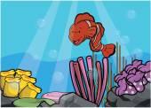 klaun ryby podvodní scenérie