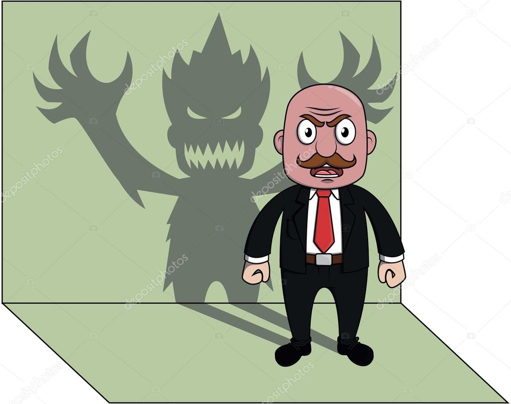 business man monster shadow stock vector indomercy2012 98587994