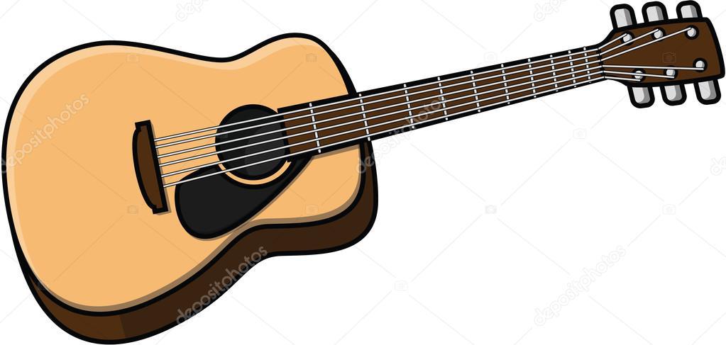 Vector Guitarra Española Ilustración De Dibujos Animados De