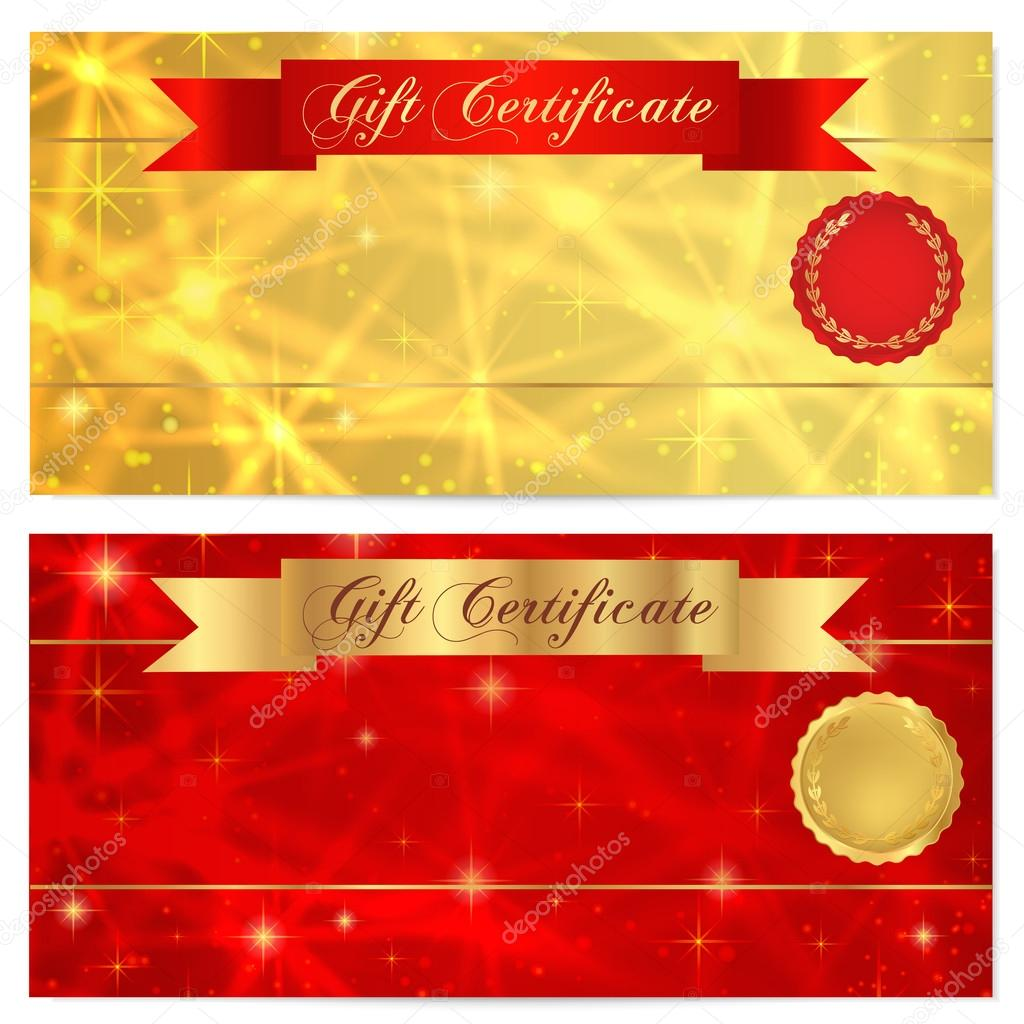 Gift certificate, Voucher, Coupon, Reward or Gift card template with ...