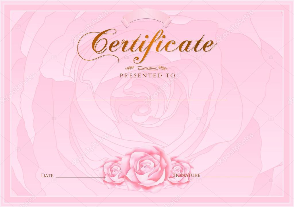 Certificado, Diploma de terminación (plantilla de diseño de color de ...