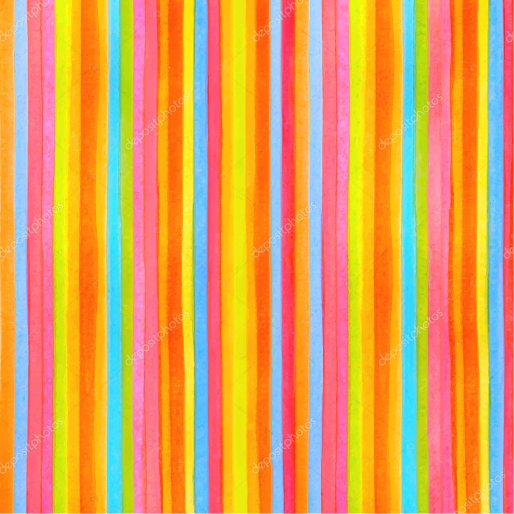 Colorful Striped (stripes Pattern) Background. Vector