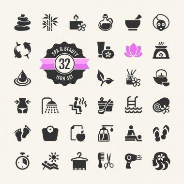 Spa & Beauty Icons Set