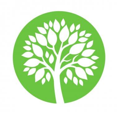 Vector abstract round embema - symbolic tree