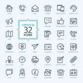 Photo Outline web icons set - Contact us