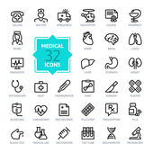 Photo Outline web icon set - Medicine and Health symbols