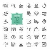 Přehled web ikony - peníze, finance, platby