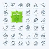 Photo Outline web icon set - Fruit and Vegetables