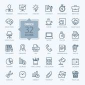 Fotografie Outline web icon set - Office.