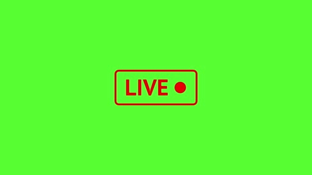 Red Live Stream symbol, Sign for live streaming, broadcasting. Emblem of online stream. Sign for tv, shows, news or social media. Chromakey and broadcasting symbol.