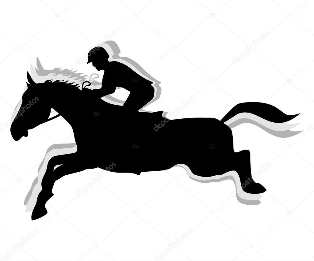 Equestrian Jumping Silhouette Stock Vector C Photoestelar 116986008
