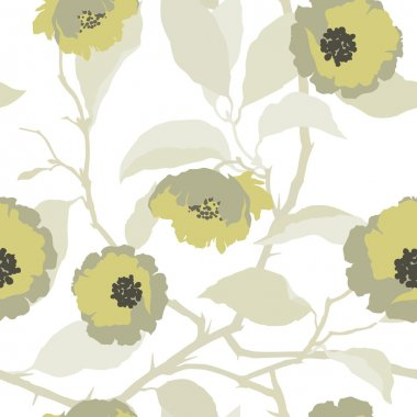 Seamless pattern with flowers roses