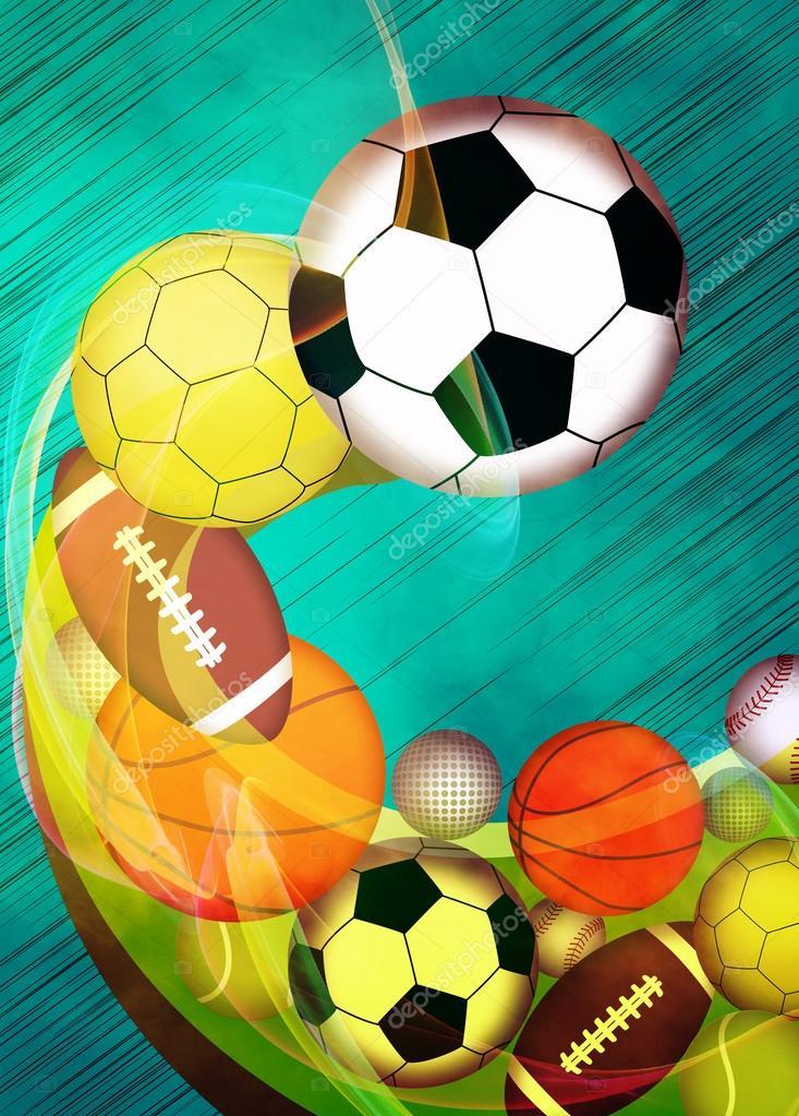 Sport Balls Background Stock Photo