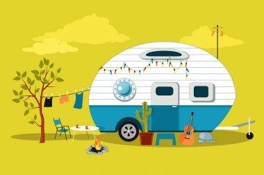 Little vintage camper