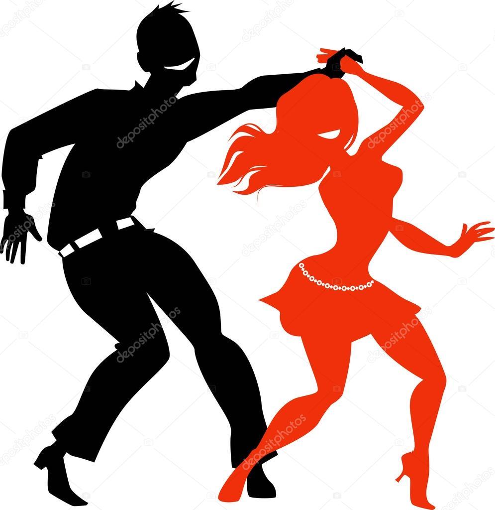 sagome di ballerini di salsa � vettoriali stock 169 aleutie