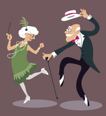 Old timers dancing