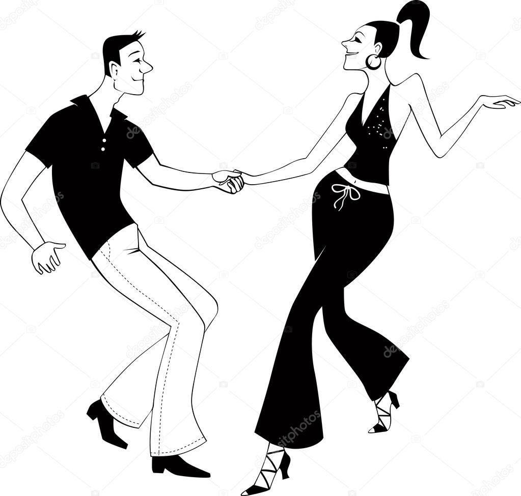 Два танцора на картинке