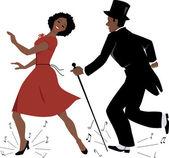 Fekete tap-táncos előadóművészek