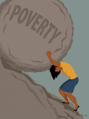 Woman in poverty
