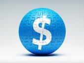 Znak dolaru puzzl