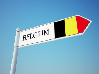 Belgium Flag Sign