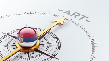 Serbia Art Concept