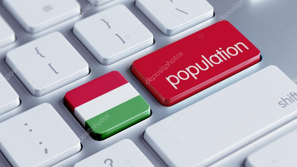 Hungary Population Concep — Stock Photo © eabff #55235905