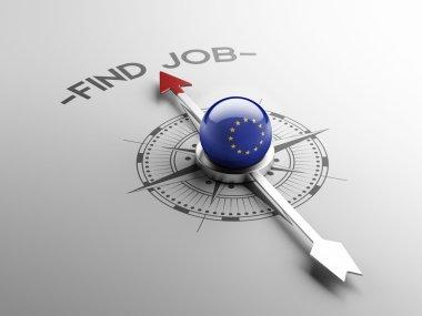 European Union Find Job Concept