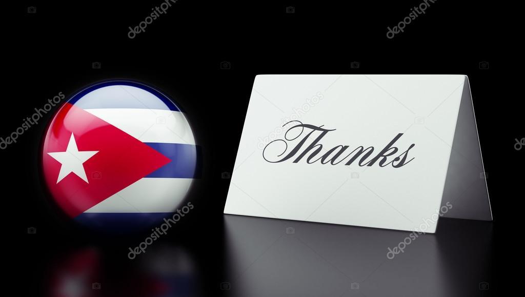 Cuba Thanks Concept — Stock Photo © eabff #56763033