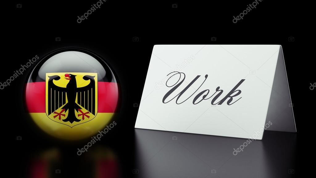 práce německo