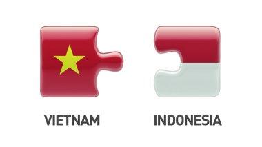 Indonesia Vietnam  Puzzle Concept