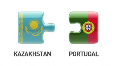 Kazakhstan Portugal  Puzzle Concept