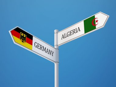 Algeria Germany  Sign Flags Concept
