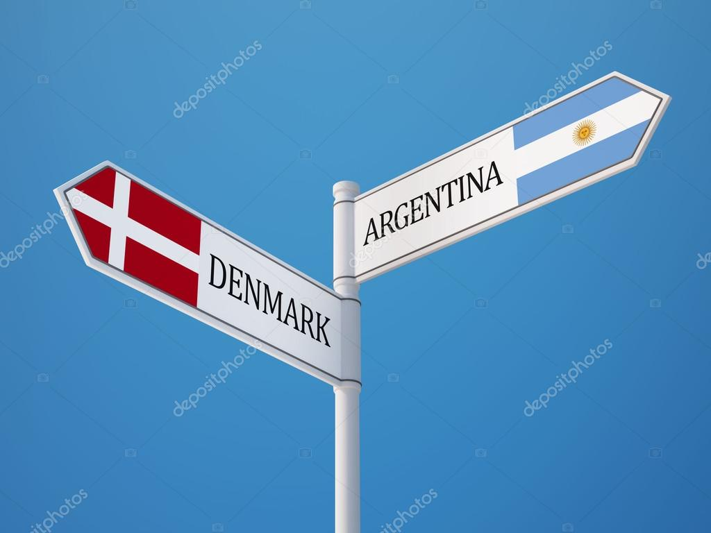 Denmark Argentina Sign Flags Concept Stock Photo Eabff - Denmark flags
