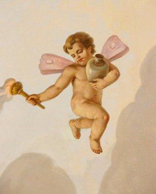 "Картина, постер, плакат, фотообои ""фреска с ангелом"", артикул 55653817"