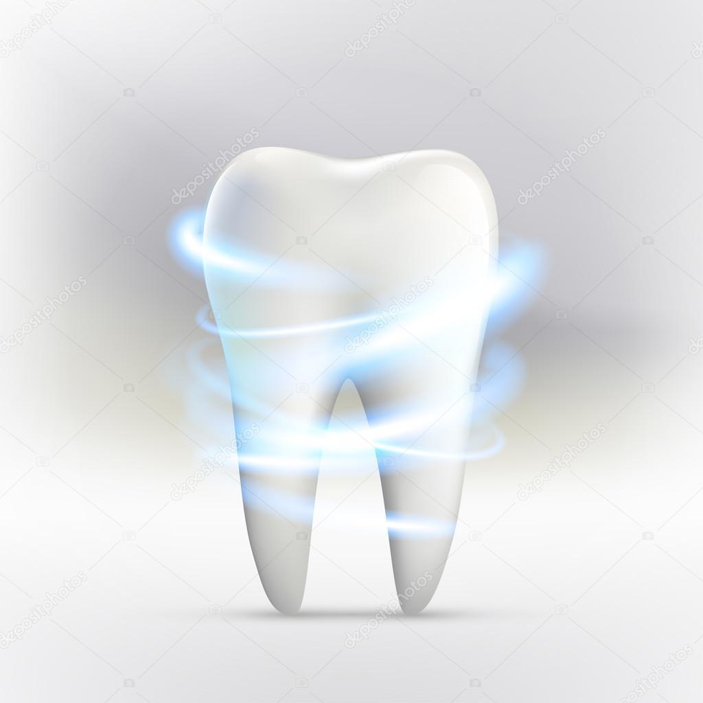 Der menschliche Zahn Bleaching — Stockvektor © vantuz #104265184