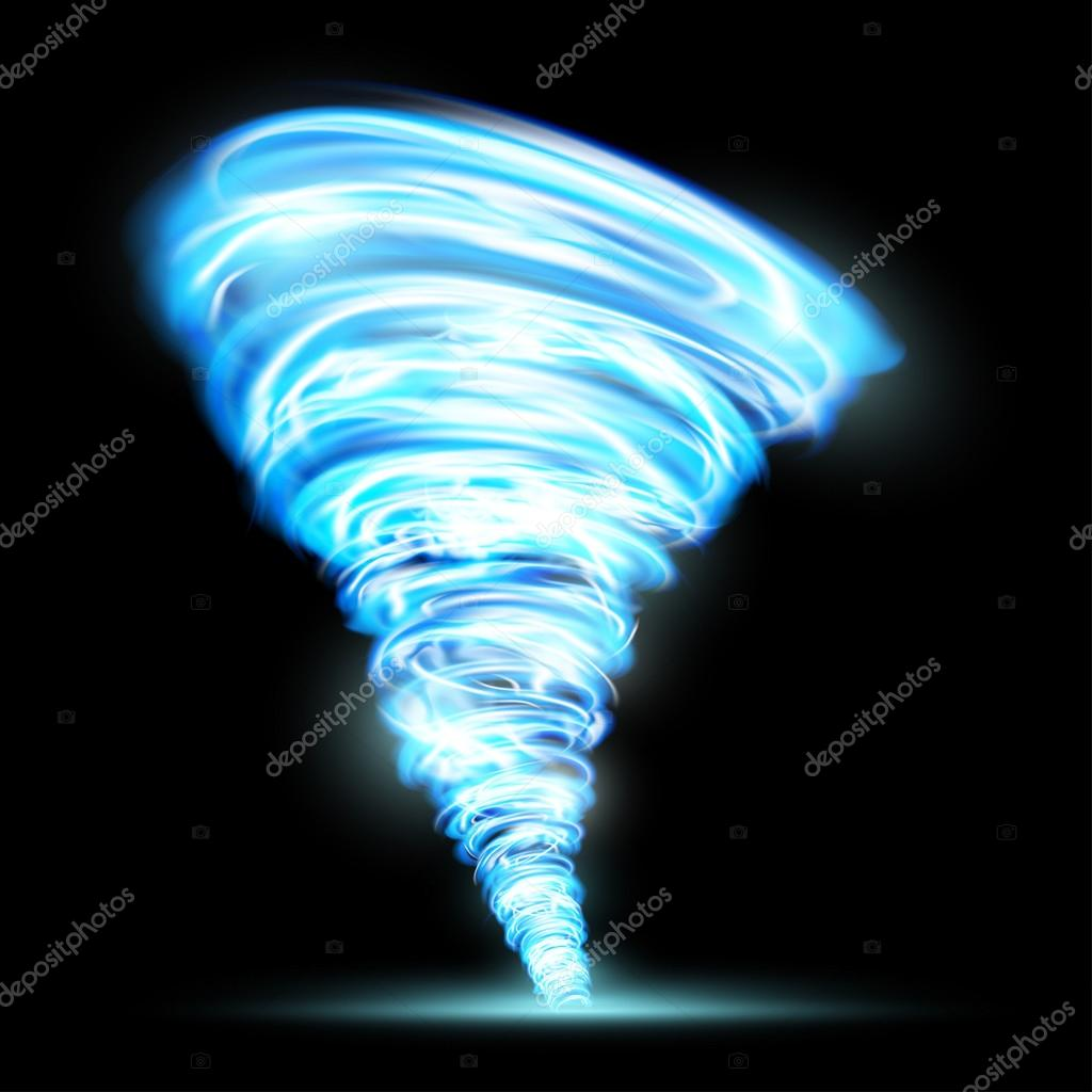 Abstract glowing tornado