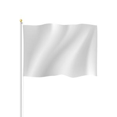 Blank white flag