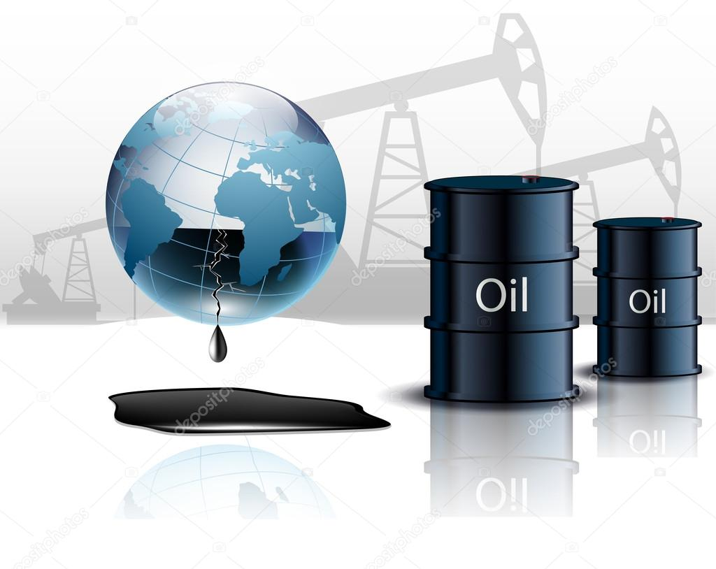Oil pump oil rig energy industrial machine and barrels of oil